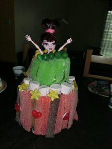 gâteau de bonbons d'anniversaire monster high