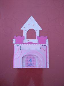 carte d'anniversaire fille château de princesse