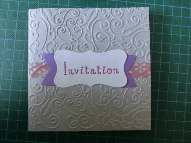 carte invitation baptème