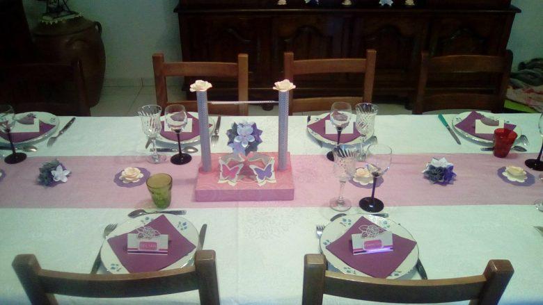 déco de table pastel