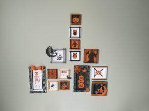 vue d'ensemble des 14 cadres réalisés pour Halloween.
