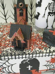 """déco de table """"village halloween """""""