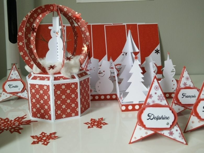 éléments de décoration table de noël