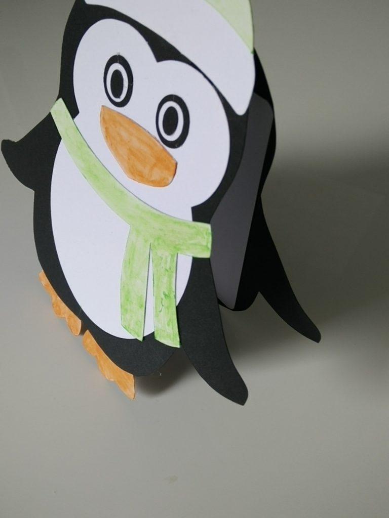 faire-part en forme de pingouin