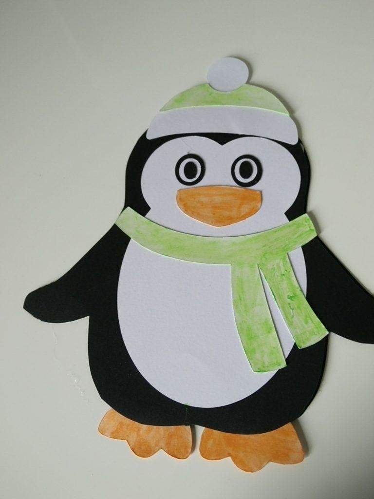 faire-part naissance en forme de pinguin