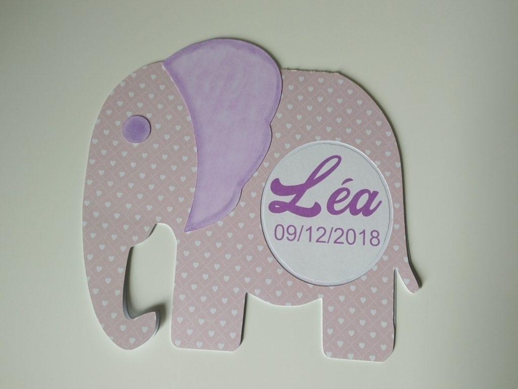 carte de naissance éléphant