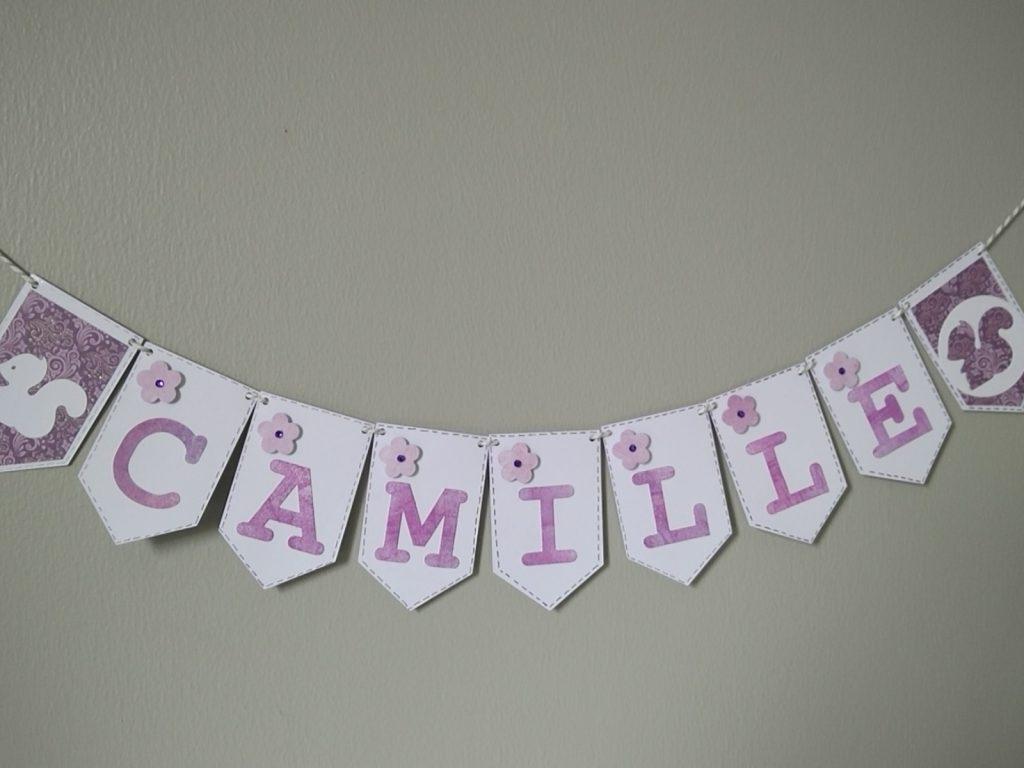 banderole pour naissance fille camille