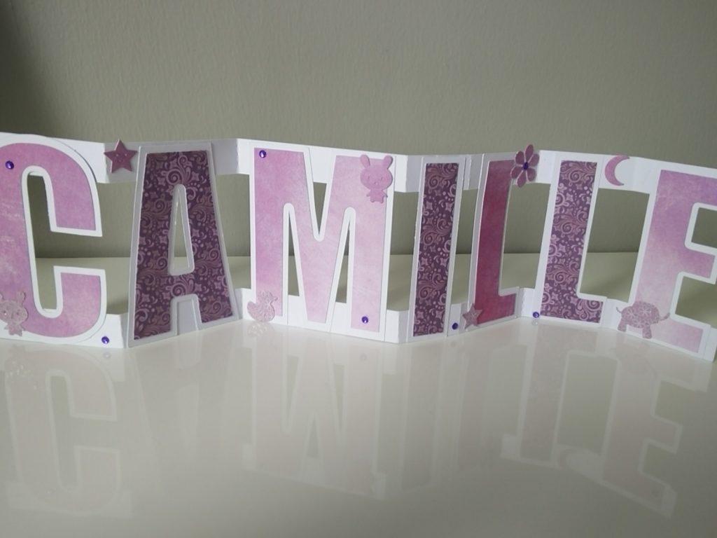 lettres décorées prénom camille
