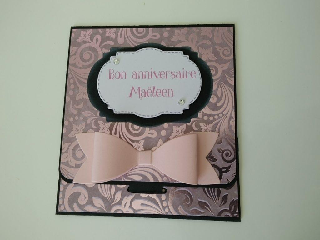 carte d anniversaire avec insert pour tag