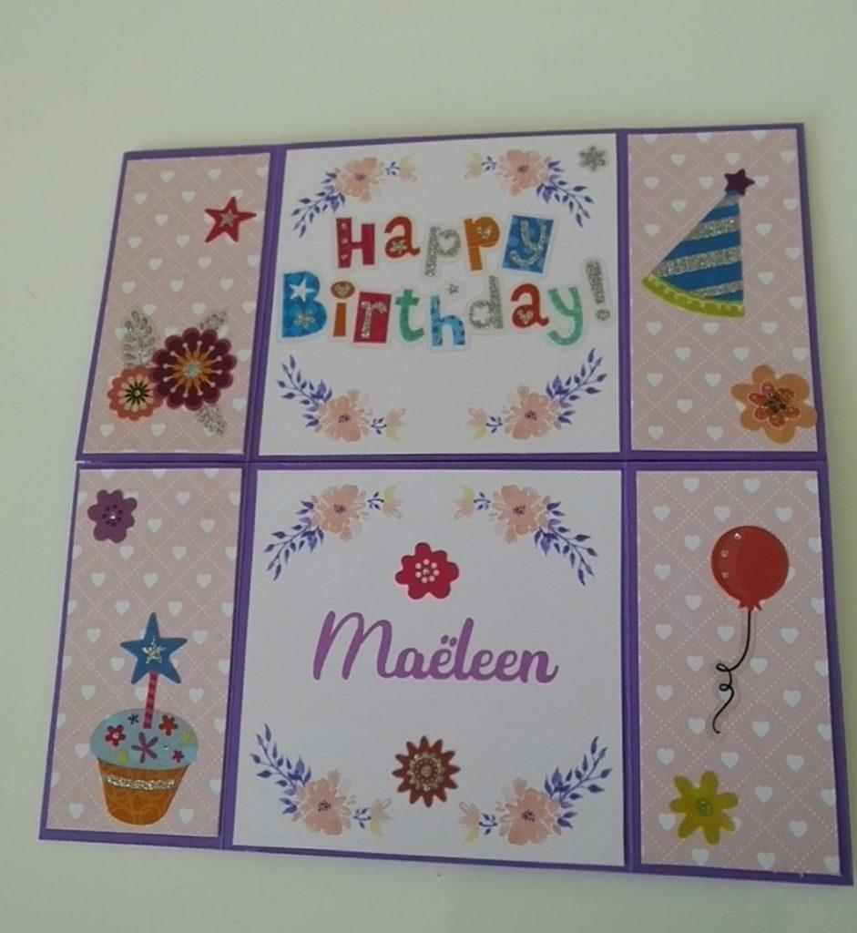 carte sans fin happy birthday