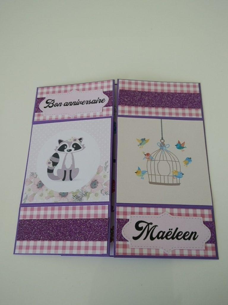 carte sans fin rose et violette