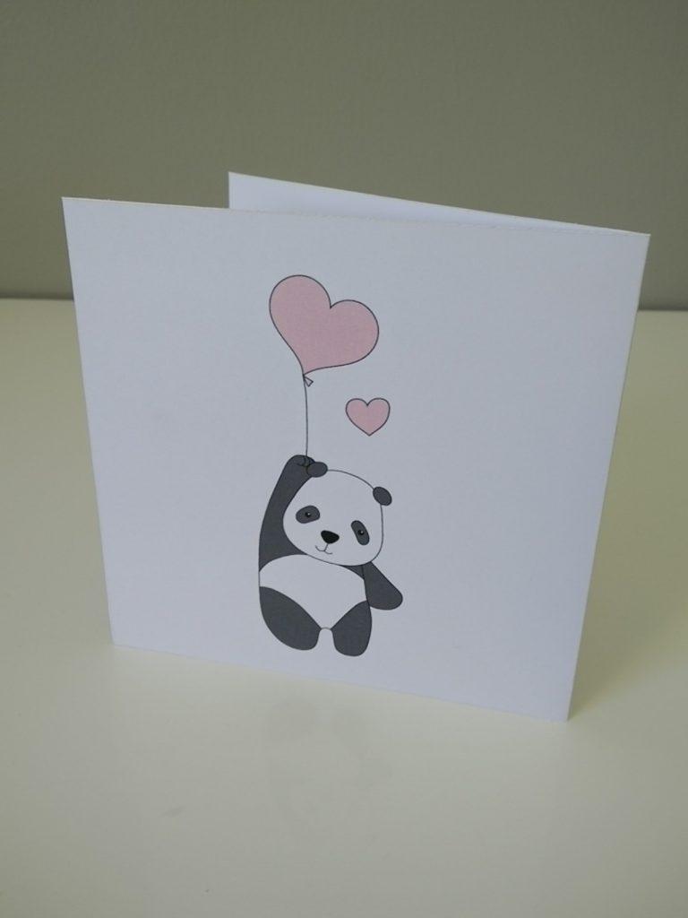 carte carrée panda
